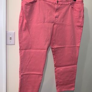 Women's Plus Size Coral colored jeans